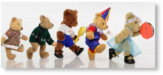 Photo of dancing bears for pre-school ballet syllabus